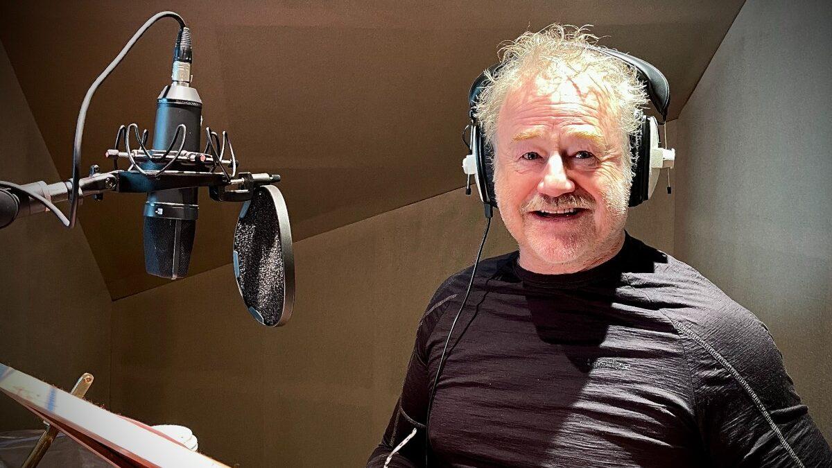 Owen Teale recording for Deliveroo advert