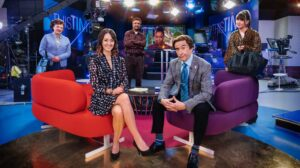 Image of filming of This Time with Alan Partridge
